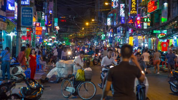 In Ho Chi Minh City, this street is crazy. Crazy fun, with crazy tourists, too.